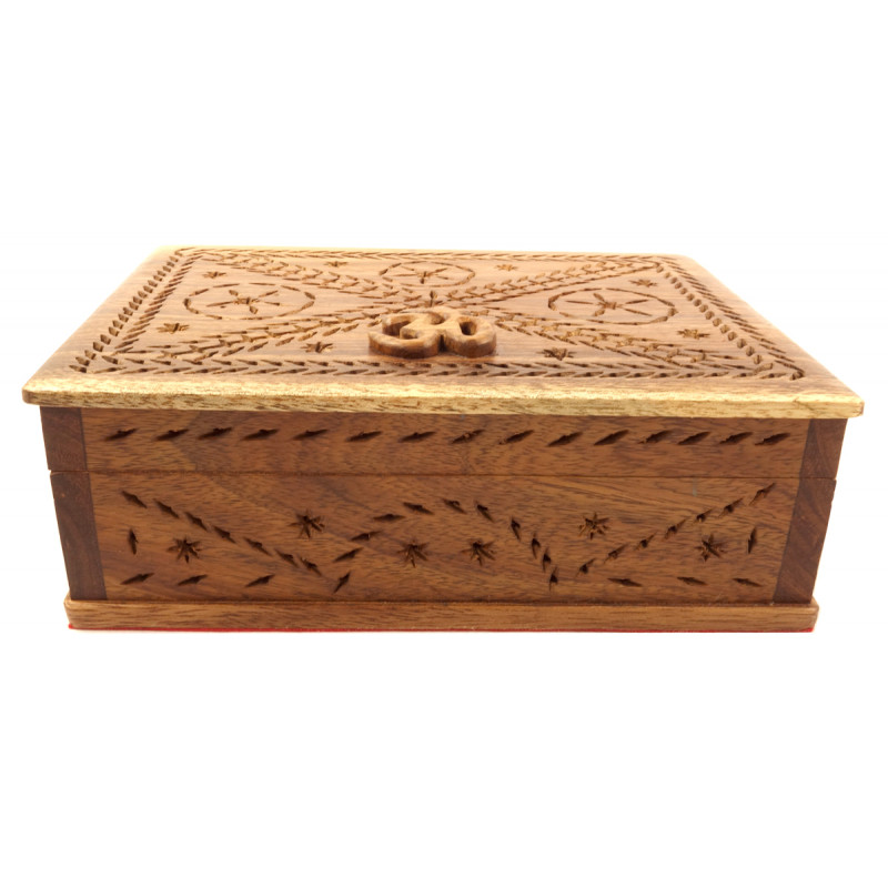 HANDICRAFT ASSORTED BOX TALI WOOD 7X7.5 INCH