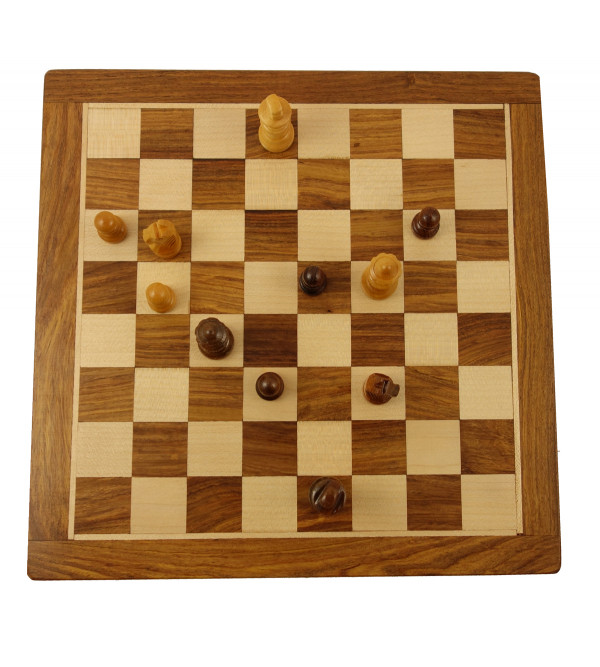 HANDICRAFT CHESS BOARD SHISHAM WOOD 10 INCH