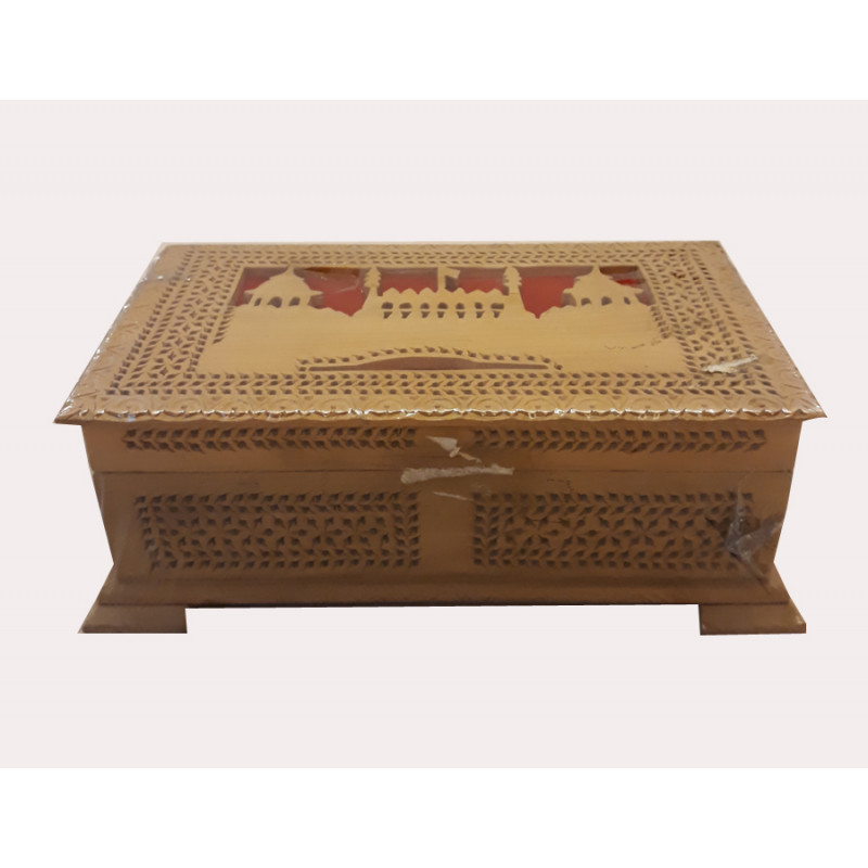 Wooden Box Handcrafted with Fine Jaali Work