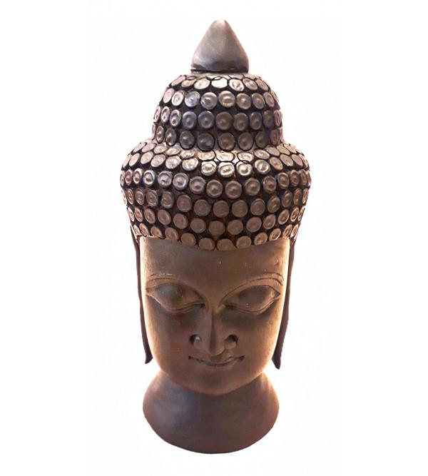 BUDDHA HEAD RED SANDALWOOD 6 INCHES