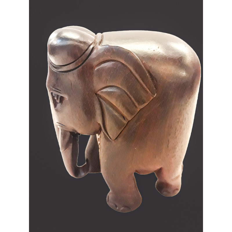 RED SANDAL ELEPHANT PLAIN 5 INCH 550 GMS