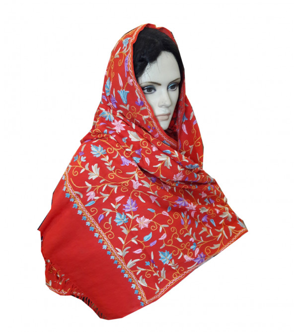 Stole Ruffle Eri 28 X80 Inch Assorted Colours