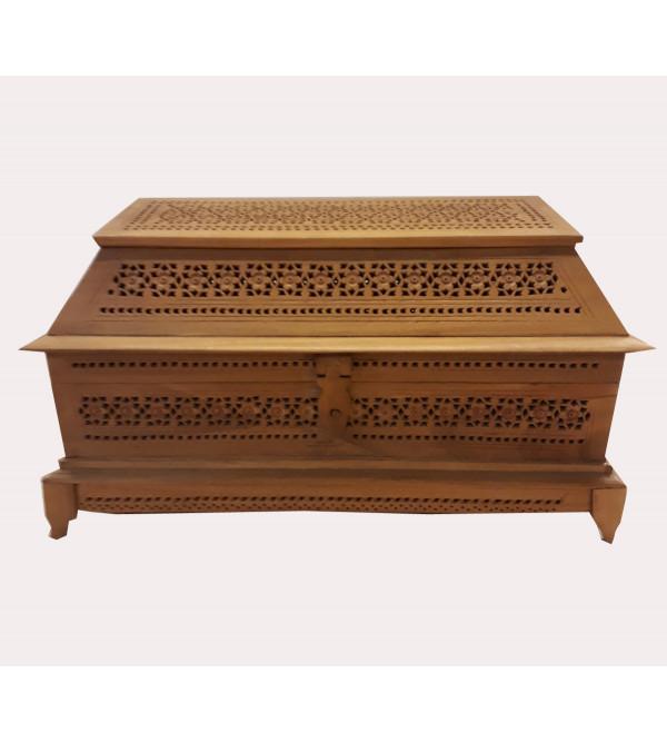 Kadamba Wood Handcrafted Jewelry Box with Jaali Work