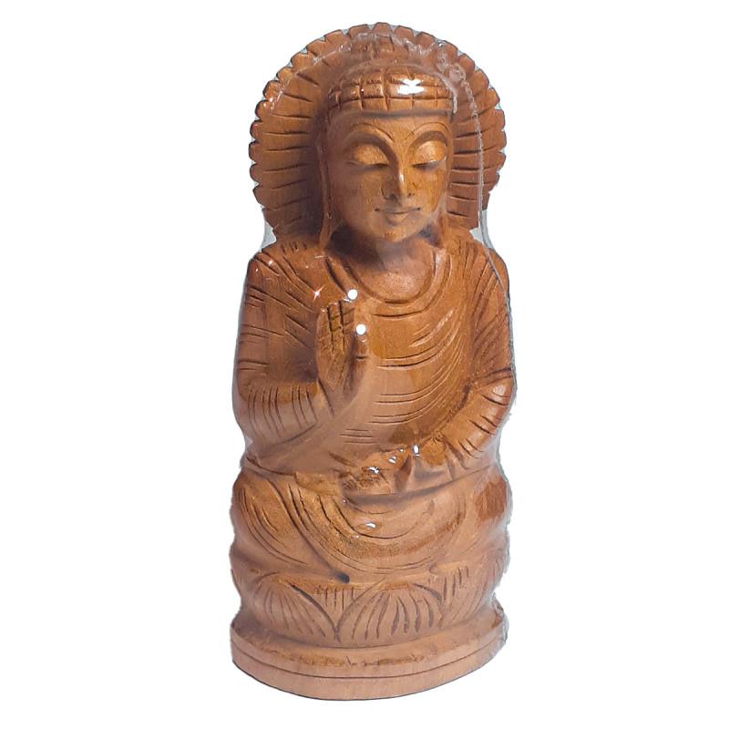 Kadamba Wood Handcrafted Sitting Figure of Lord Buddha