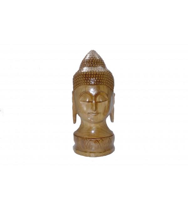 KADAM WOOD BUDDHA FACE 12 Inch