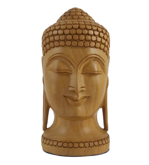 KADAM WOOD BUDDHA HEAD 5 INCH