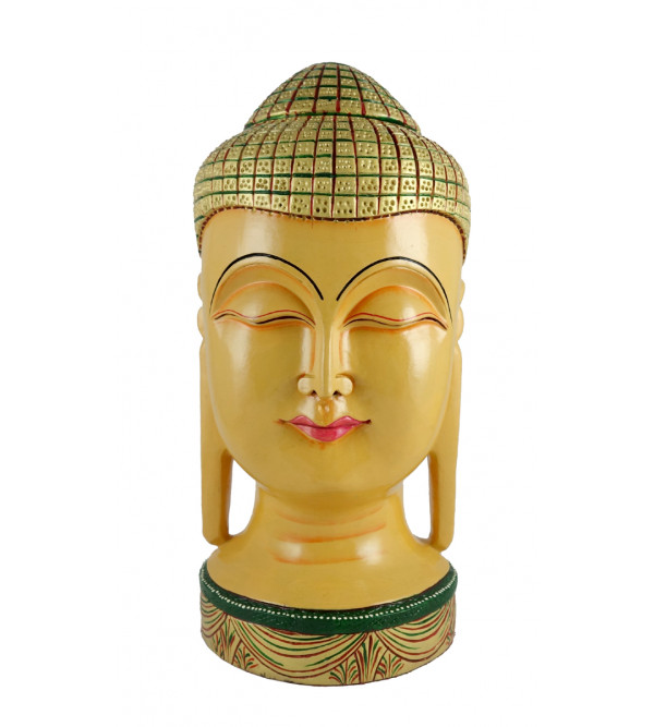 KADAM WOOD BUDDHA FACE 12 Inch