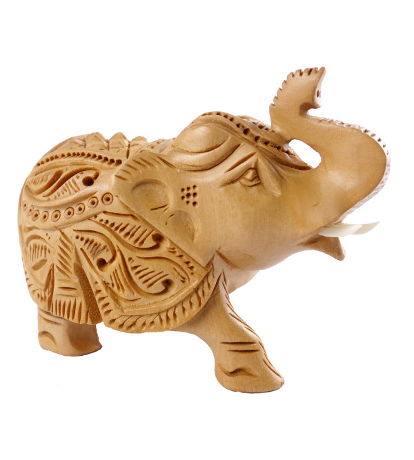 Handicraft Elephant Plain Kadam Wood 2.5 INCH
