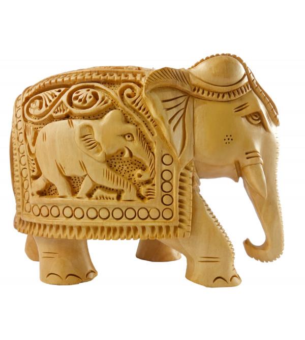 Kadamba Wood Handcrafted Carved Elephant