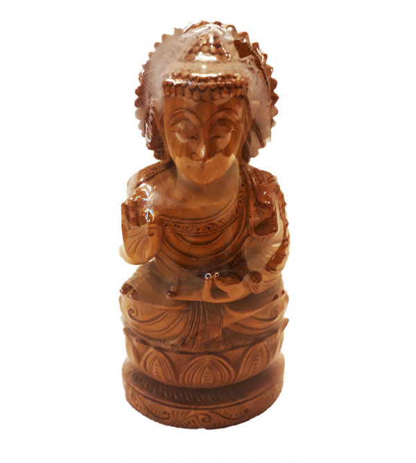Sandalwood Handcrafted Carved  Sitting Lord Buddha