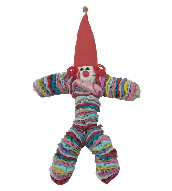 Handcrafted Fabric Clown from Rajasthan Size 13 Inch
