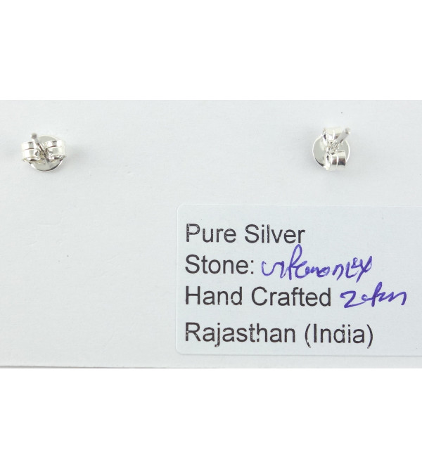 HANDICRAFT EARRING  SILVER 92.5%  TURQUOISE STONE