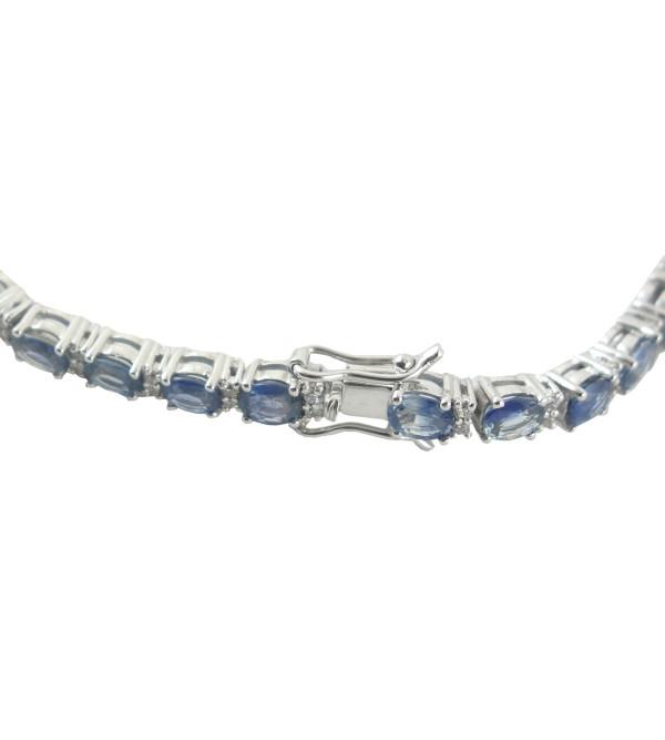 HANDICRAFT BRACELET 92.5% SILVER RUBY BLUE SAPPHIRE STONE