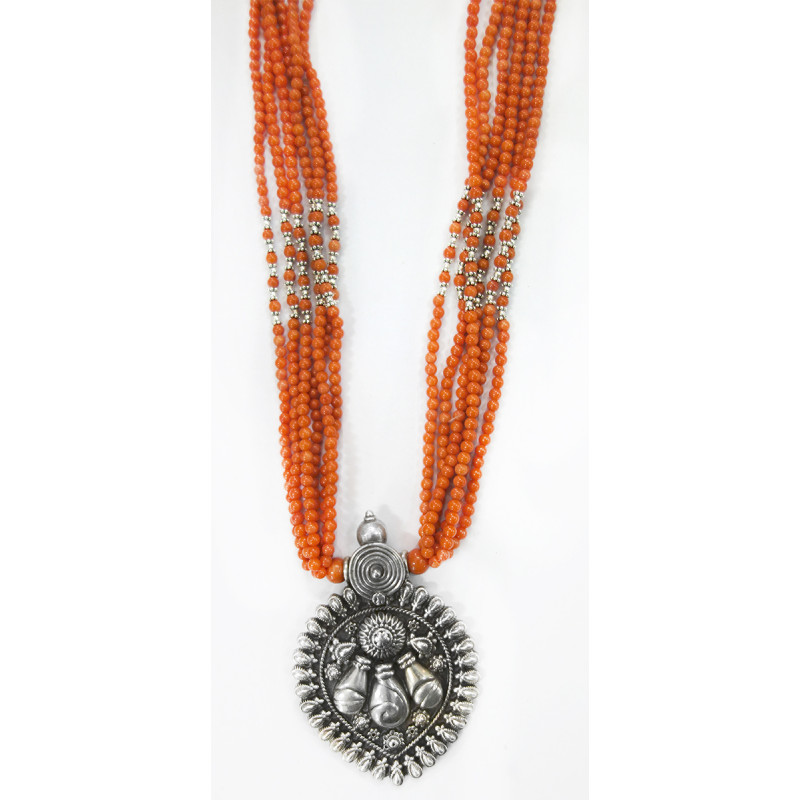 SILVER MICRON NECKLACE WITH PEARL