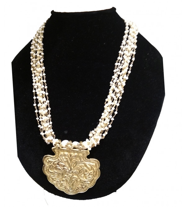 92.5 SILVER MICRON NECKLACE WITH PEARL
