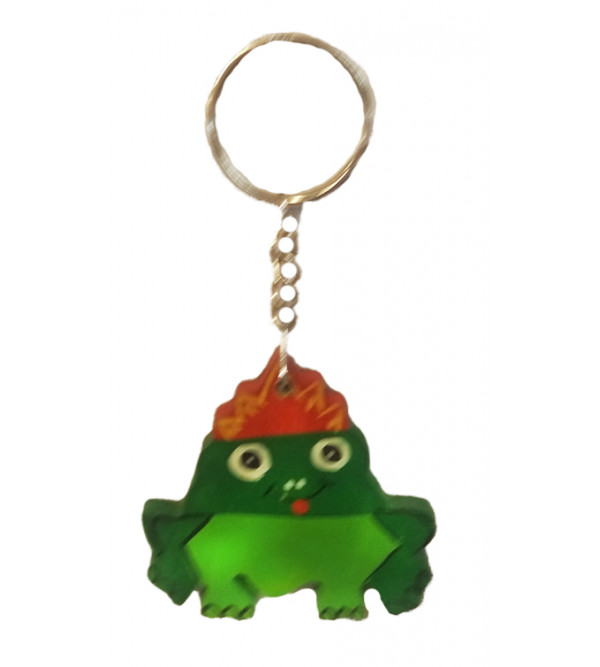 Handcrafted Wooden Channapatna Key Ring Size 2 Inch.