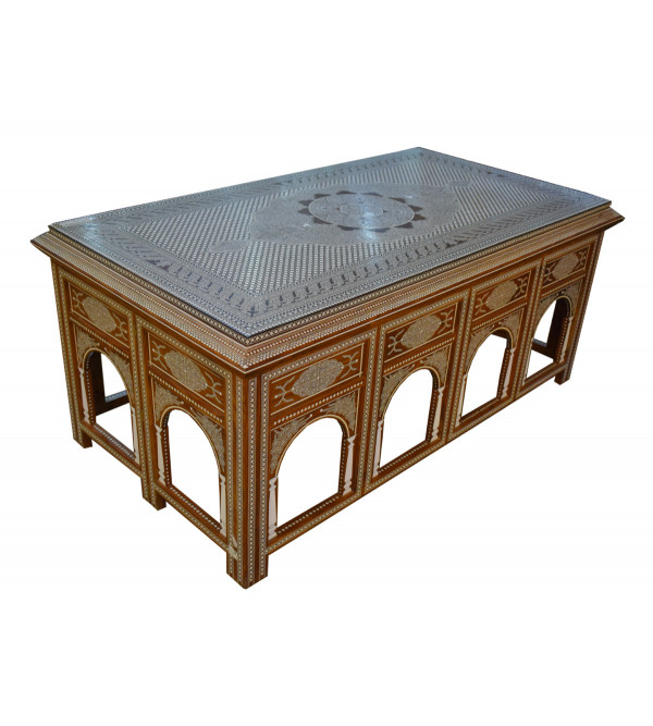 Handcrafted  Table With Inlay Work Sheesham Wood