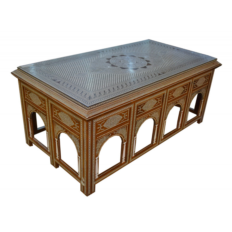 TABLE WITH INLAY WORK SHEESHAM WOOD sheesham wood