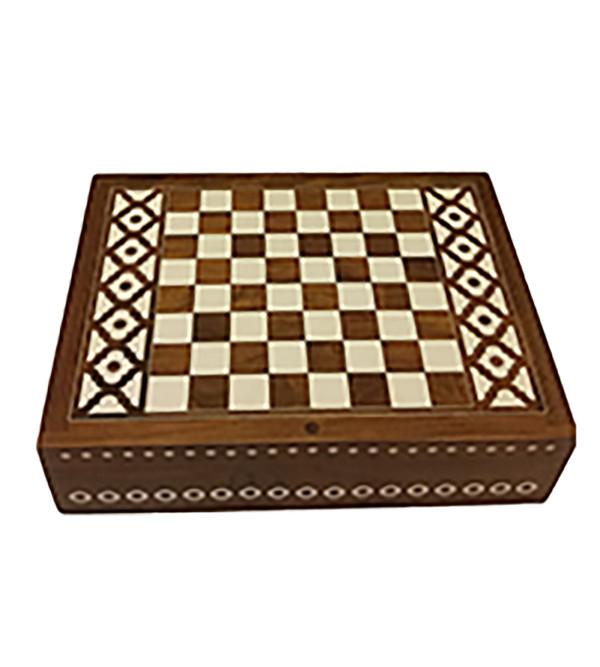 BOX CARVED INLAID   SHEESHAM WOOD 8x6 inch