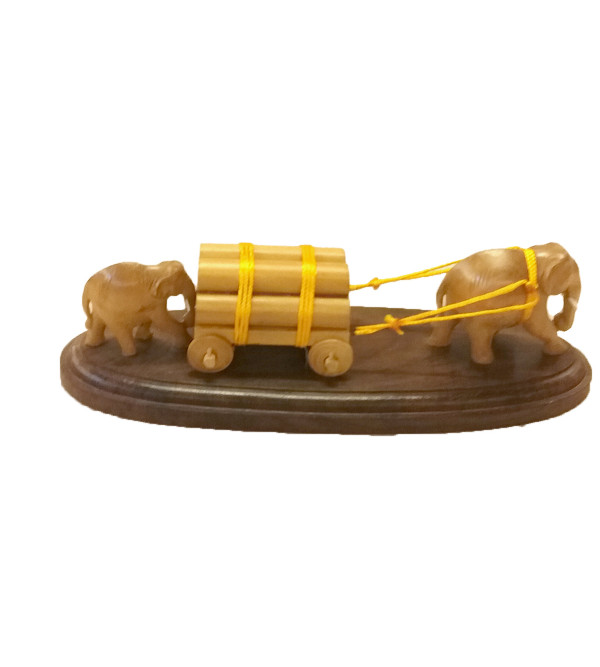 CART ELEPHANT SANDAL WOOD 8.5 inch