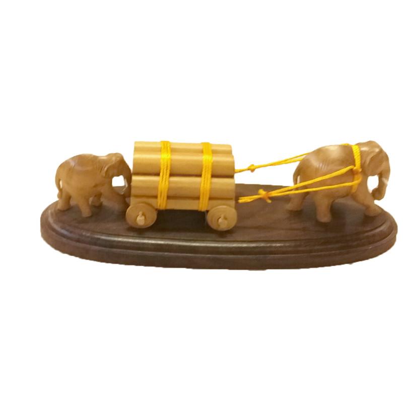 CART ELEPHANT SANDAL WOOD 8.5 inch