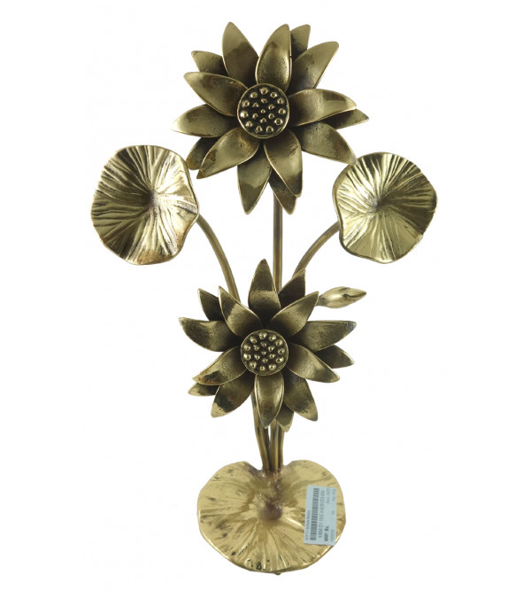 Lotus Handcrafted In Brass Size 12 Inches