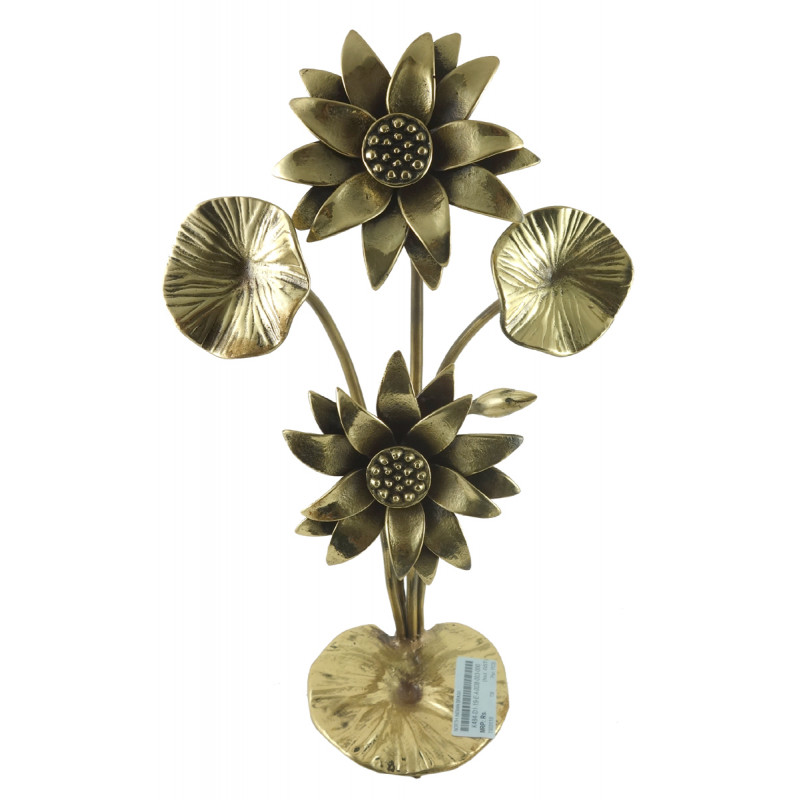 HANDICRAFT NORTH INDIAN BRASS  12 INCH LOTUS