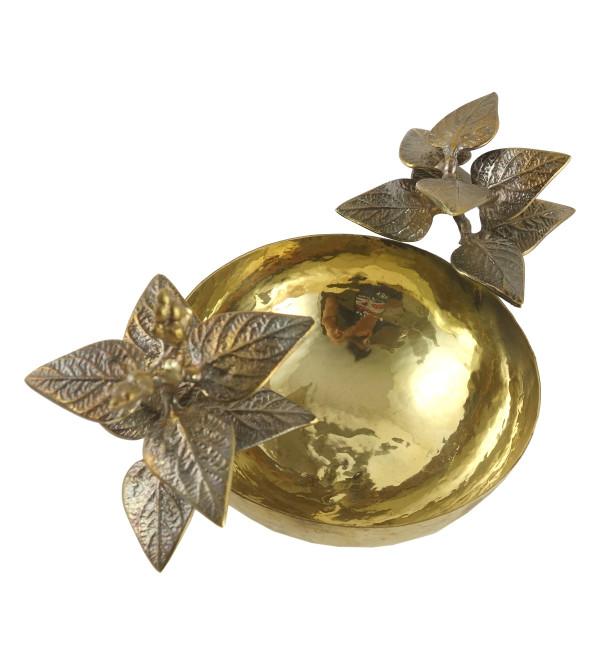 HANDICRAFT Kadamb leaf bowl 4.5 INCH