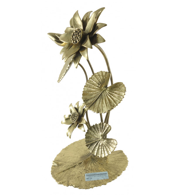 HANDICRAFT NORTH INDIAN BRASS FLOWER STAND 13 INCH