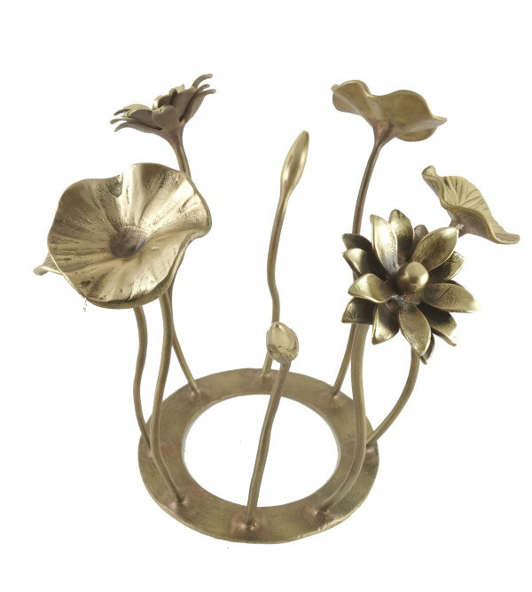 HANDICRAFT NORTH INDIAN BRASS FLOWER BUNCH 12 INCH