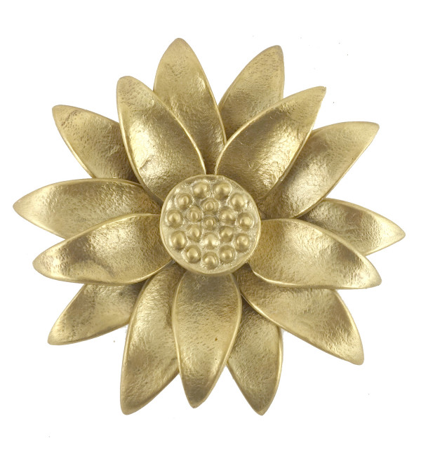 Flower Handcrafted In Brass Size 2.5 Inches