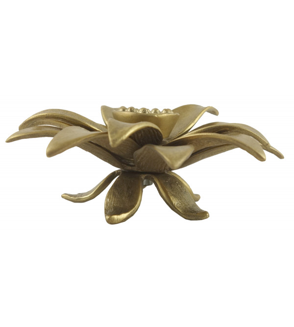 HANDICRAFT NORTH INDIAN BRASS FLOWER 2.5 INCH