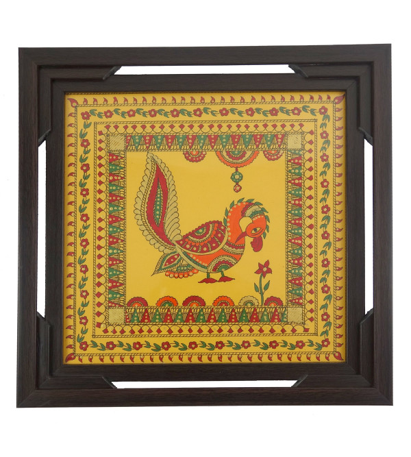 HANDICRAFT WOODEN TEA TRAY 9X9 INCH TRIPLE FRAME