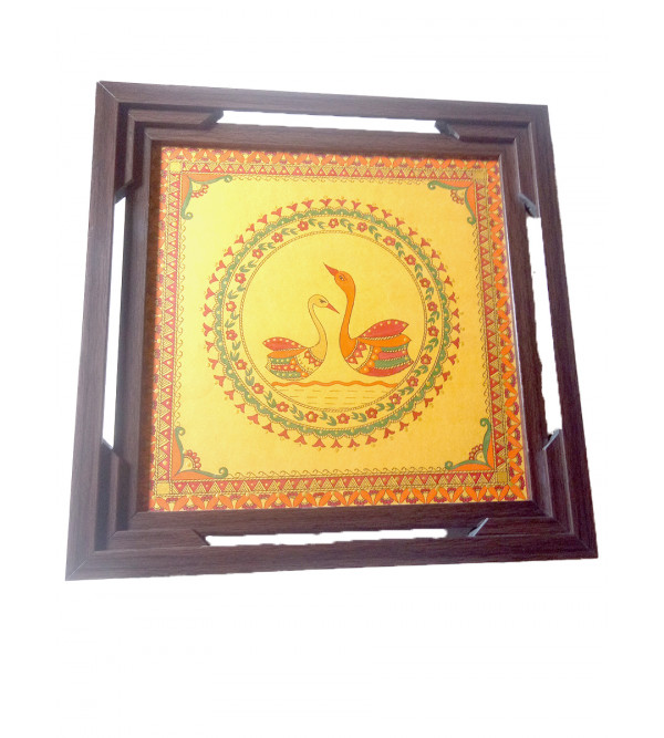 TRAY WITH COASTER PAINTED assorted design