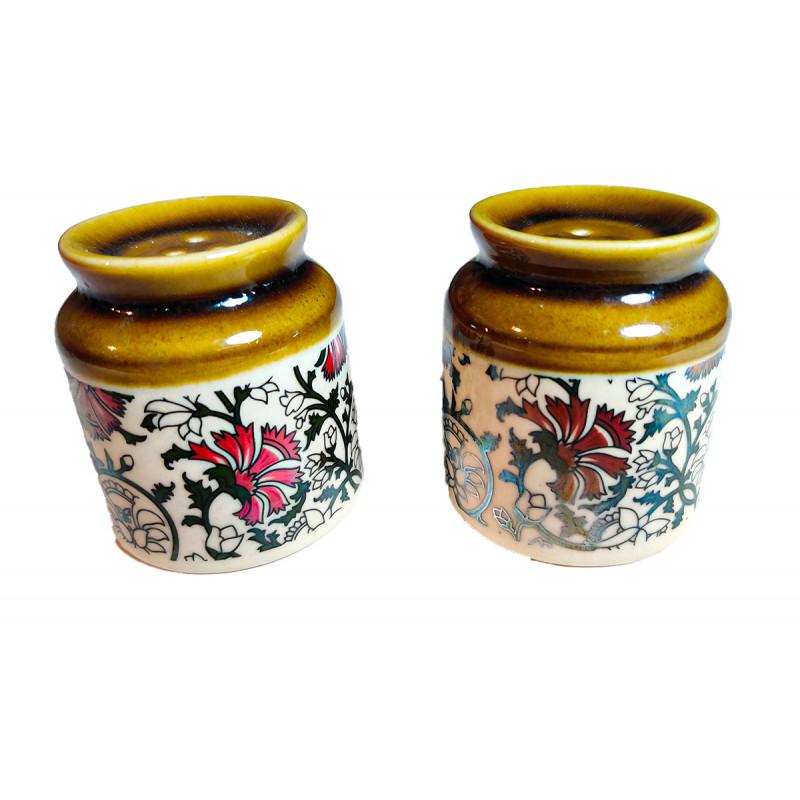 Khurja Pottery Salt Pepper Holders Size 3 Inch