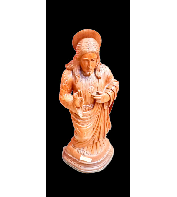 30 INCH JESUS CHRIST  IN BURMA TEAK WOOD