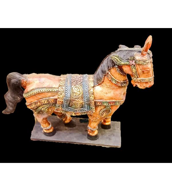36X12X48 INCH HORSE SANDING IN NEEM WOOD