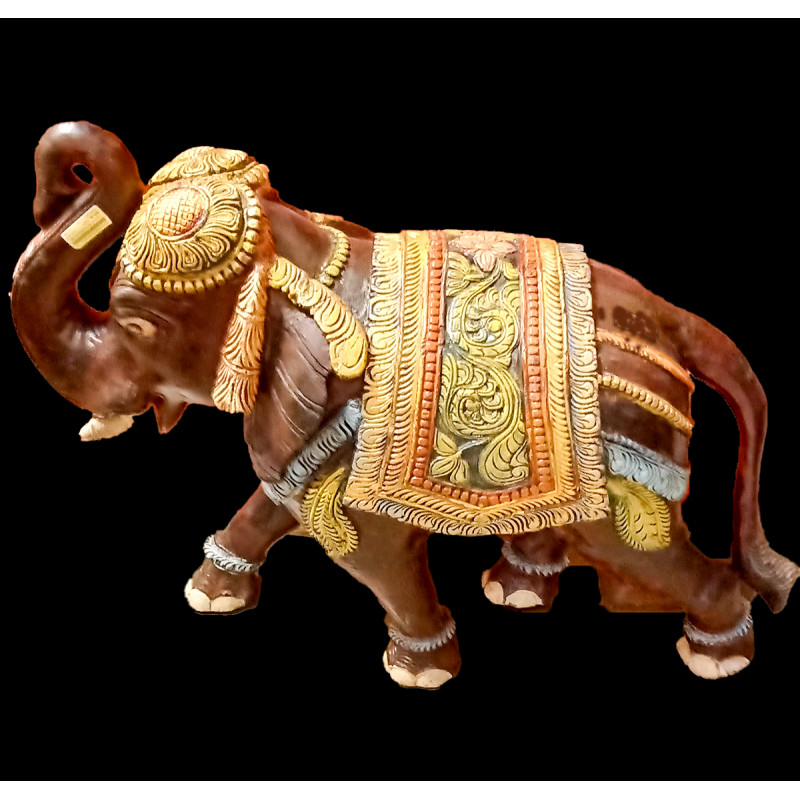 Elephant Handcrafted In Neem Wood Size 36 Inches