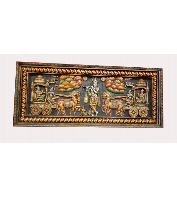 Geeta Panel Handcrafted In Neem Wood Size 30x4x70 Inches