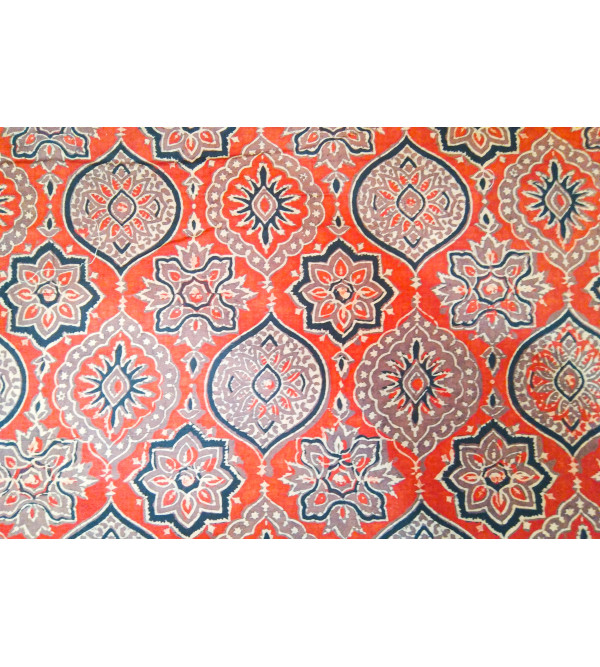Cotton Hand Block Printed Fabric Width 44 Inch