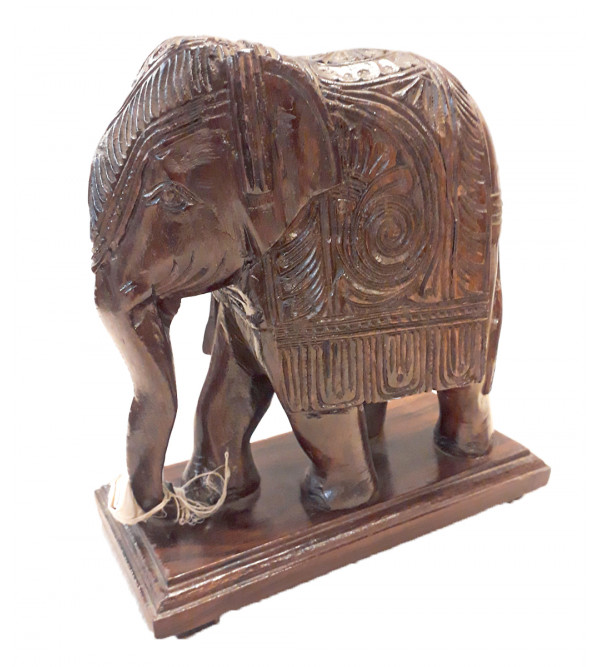 ELEPHANT CARVED 8 INCH