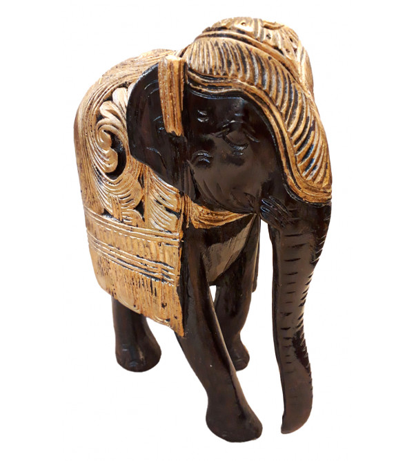 ELEPHANT CARVED 10 INCH
