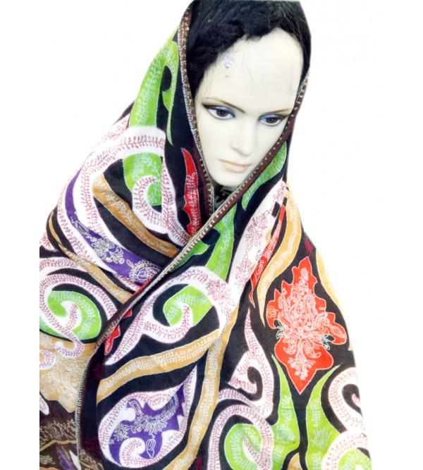Pashmina Shawl Hand  Embroidered in Kashmir, Size 40X80 Inch