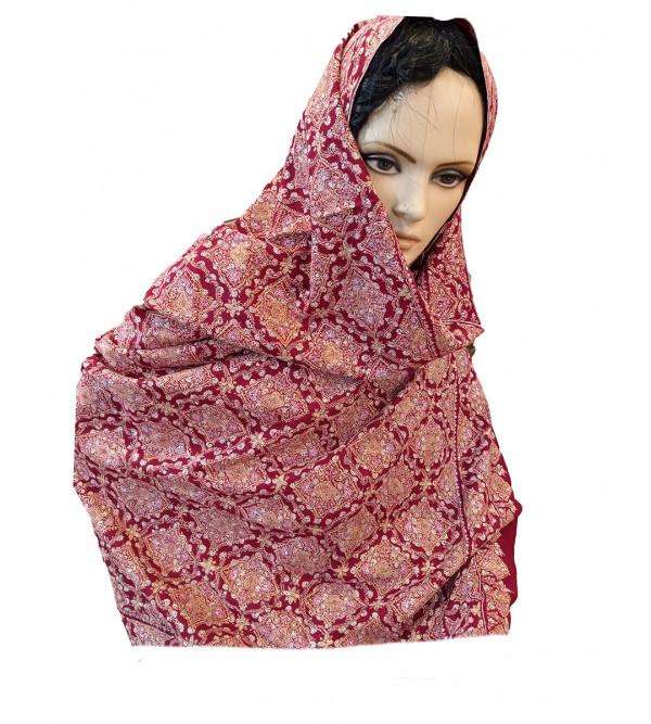Pashmina Jamawar Shawl Hand Embroidered in Kashmir Size,40X80 Inch