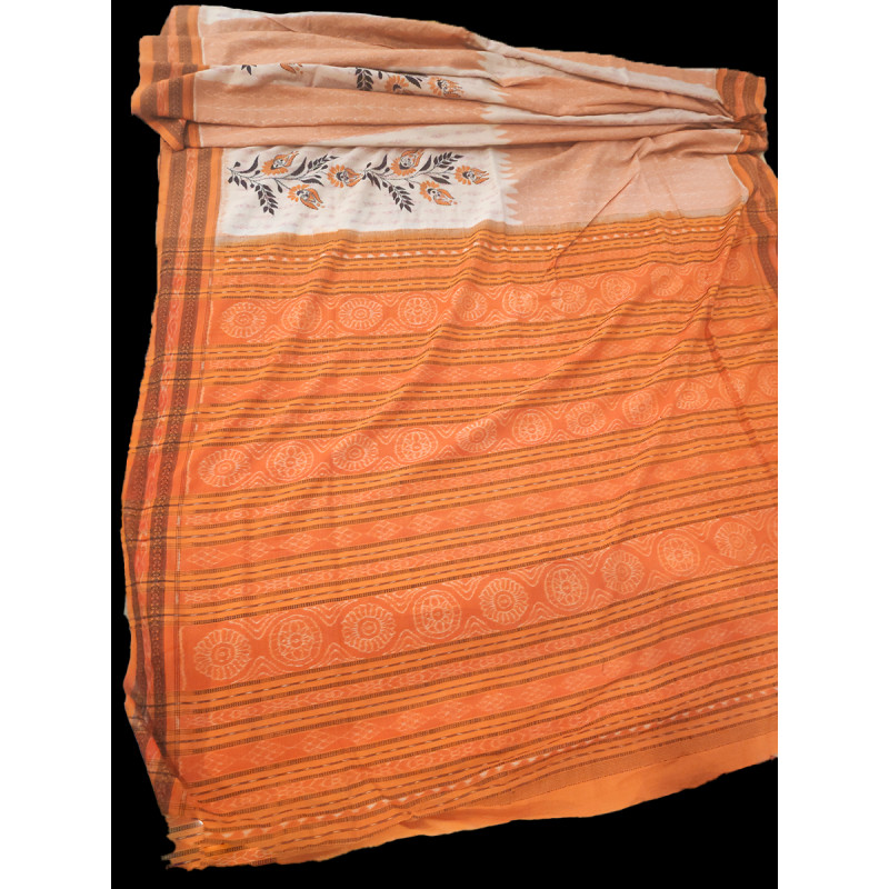 Kantha  Hand Embroidered  Cotton Hand Woven Saree With Blouse