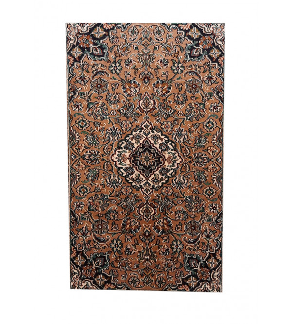 Kashmir Carpet Hand-knotted Silk x Cotton Size 2.75ftx4.25ft