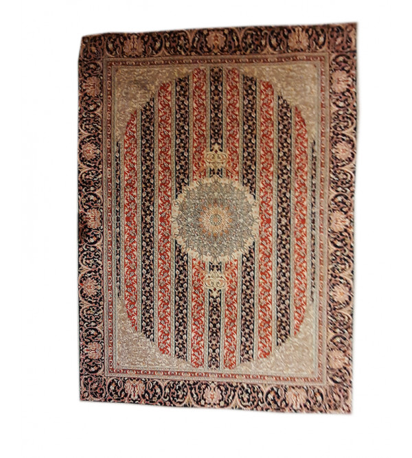 Kasmir Carpets, silk/cottn, size=5.25ftx7.25ft, 18/18 knot