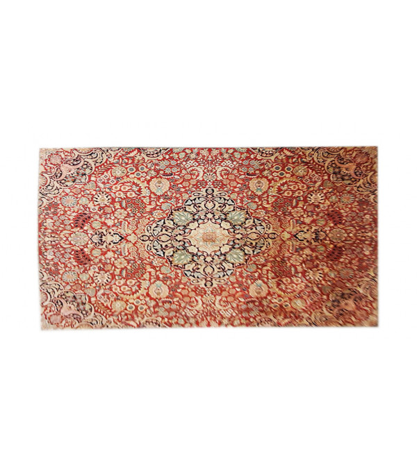 Kashmir Carpet Handknotted Silk/Cotton 18x18 knot