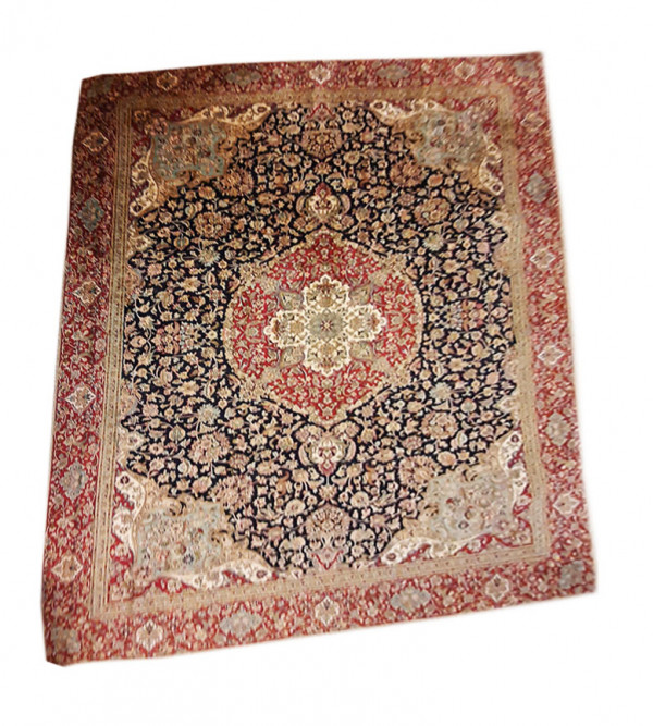 Kashmir Carpet Hand-knotted Silk x Silk Size 9ftx12ft