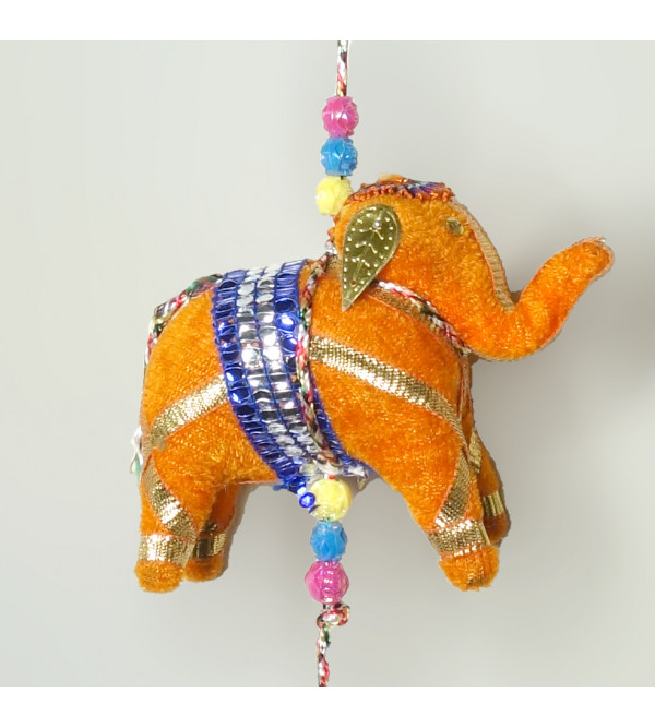 SOFT STUFFED ASSORTED TOY ELEPHANT HANGING 6PC SET